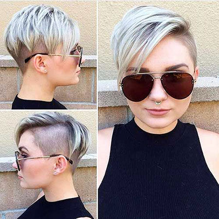 Pixie Cut, Undercut, Shade, Brown, Blonde Hairstyles, Balayage