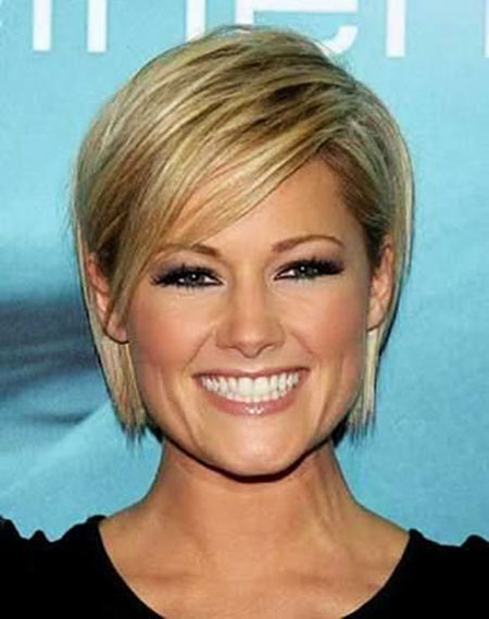 Short Hairstyles, Blonde Hairstyles, Round, Face