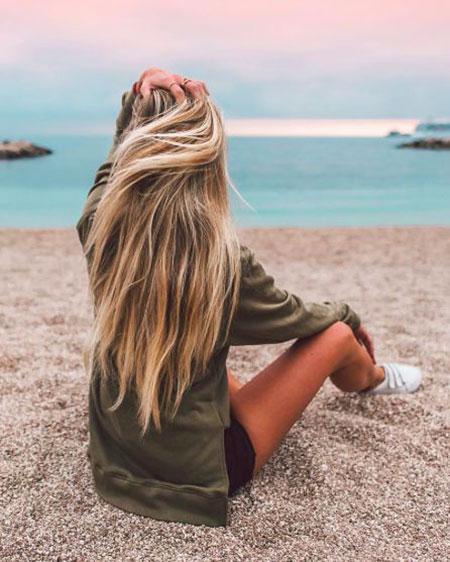 Long, Summer, Blonde, Beach, Waves, 206