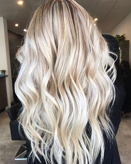 Blonde Balayage Long Tones Textured Highlights Golden