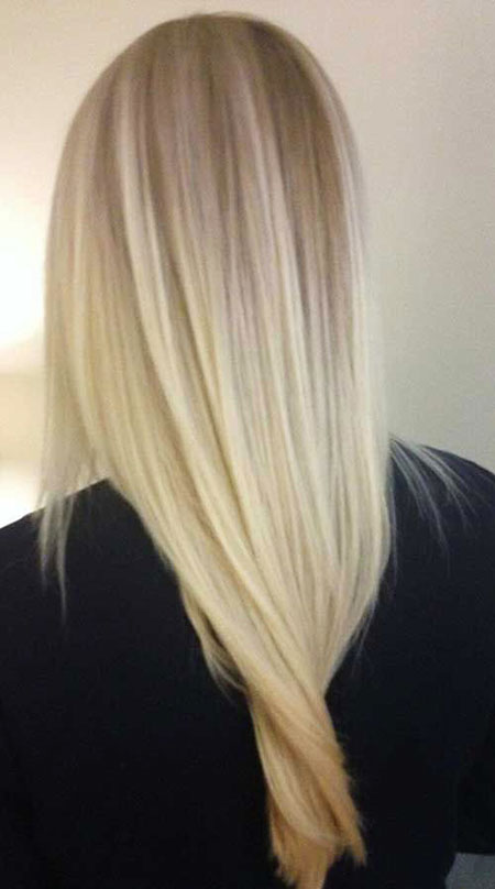Blonde Balayage Straight Highlights Platinum