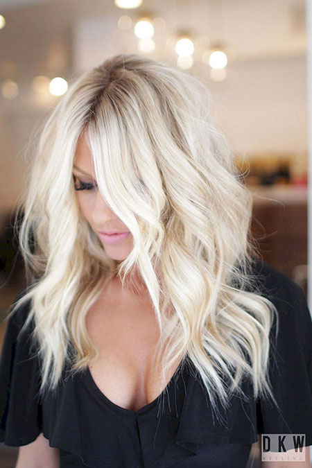 Blonde Summer Balayage Spring Platinum Long Layered Cute
