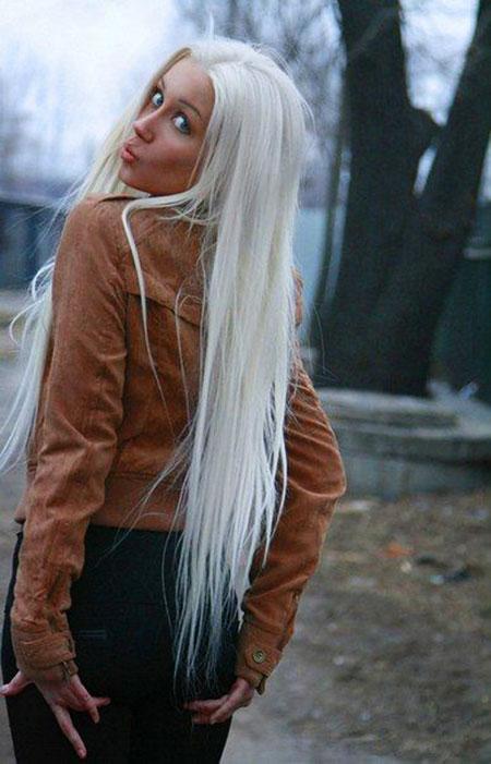Blonde White Platinum Long Bleach