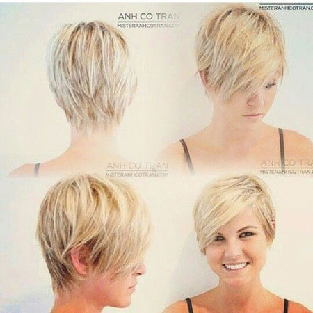 Short Hairstyles, Pixie Cut, Round, Faces, Young, Undercut, Thick