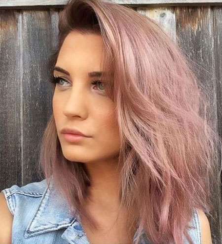 Pink, Women, Type, Short Hairstyles, Rose, Pastel, Paint, Face