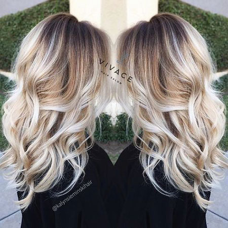 Balayage Blonde Highlights World Trends Platinum