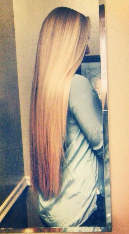 Long Blonde Length Shoulder Neat Highlights Ends