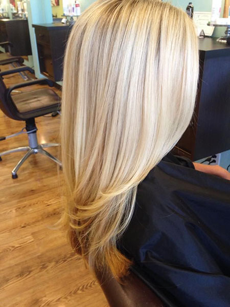 Blonde Shades Highlights Lowlights Long Layers Classic