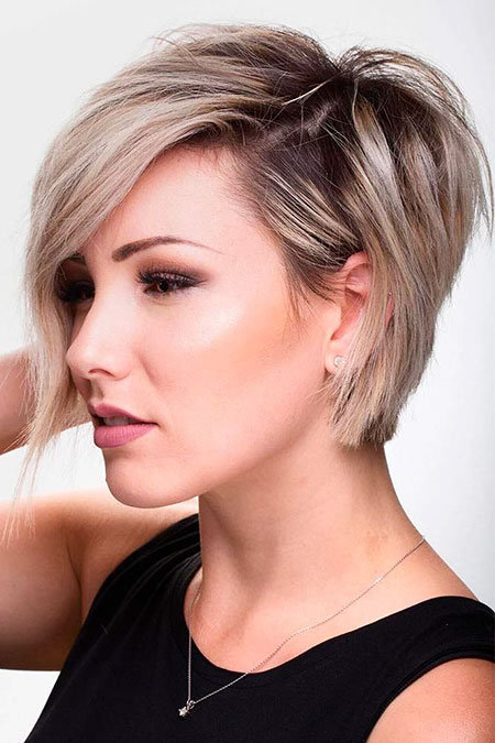Short Hairstyles, Round, Pixie Cut, Medium, Length, Layered, Faces