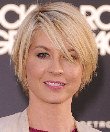 Short Hairstyles, Thin, Round, Women, Over, Older