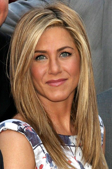 Jennifer Aniston Blonde Straight Model Medium Long