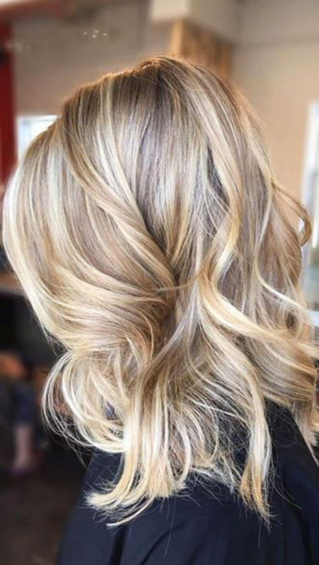 Blonde, Brown, Balayage, Highlights, Ombre, Medium, Light