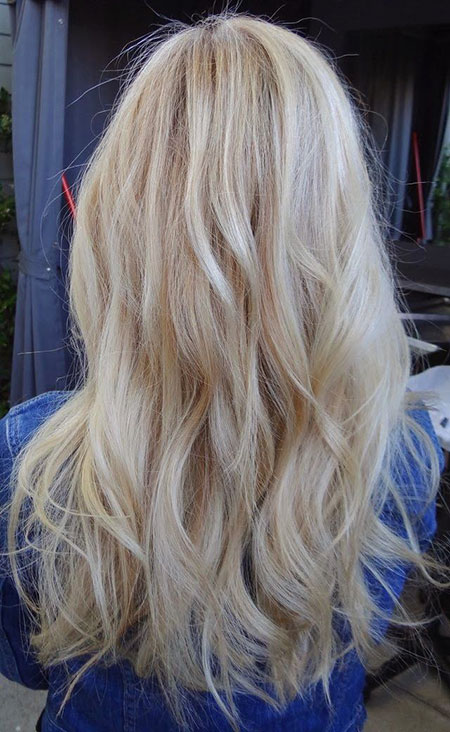 Blonde Shades Wavy Wave Soft Platinum Locks Line