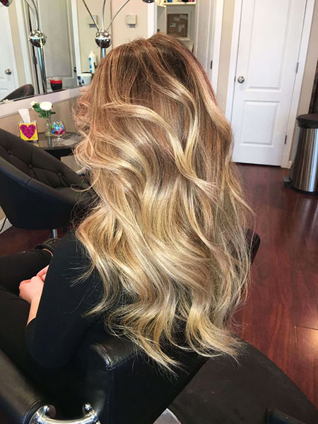 Blonde Balayage Waves Ombre Dirty Appropriate