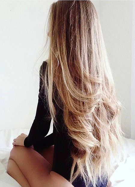 Blonde Ombre Long Very Really Black Balayage