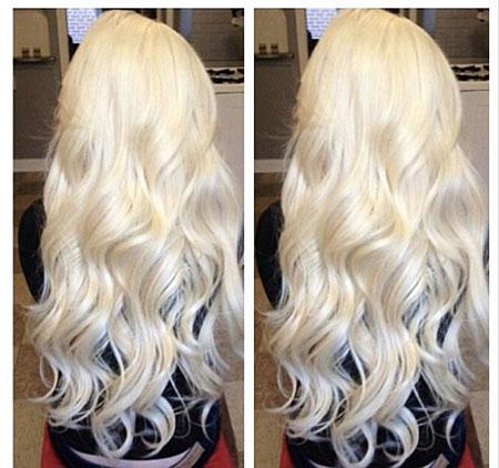 Blonde Platinum Long Ice Girl Curls Balayage