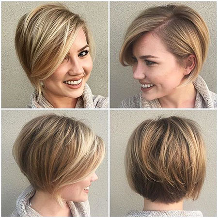 Short Hairstyles, Blonde Bob Hairstyles, Women, Purple