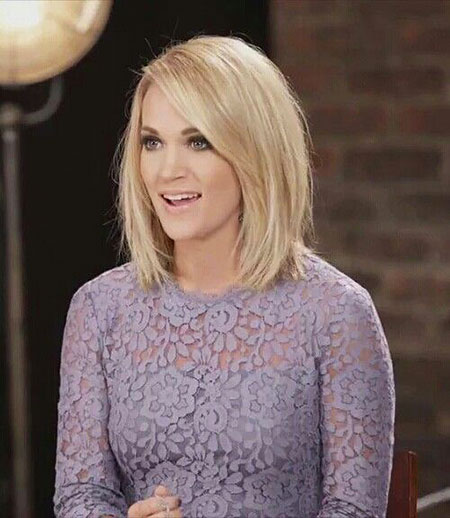 Blonde Bob Hairstyles, Medium, Long, Women, Stacked