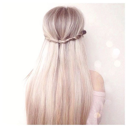 Straight Long Blonde Fishtail Braided Braid