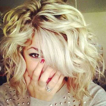 Curly, Blonde Hairstyles, Short Hairstyles, 2017