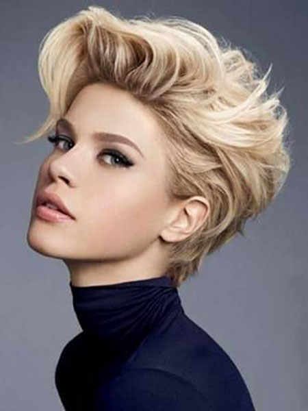 Short Hairstyles, Blonde Hairstyles, Women, Pixie Cut