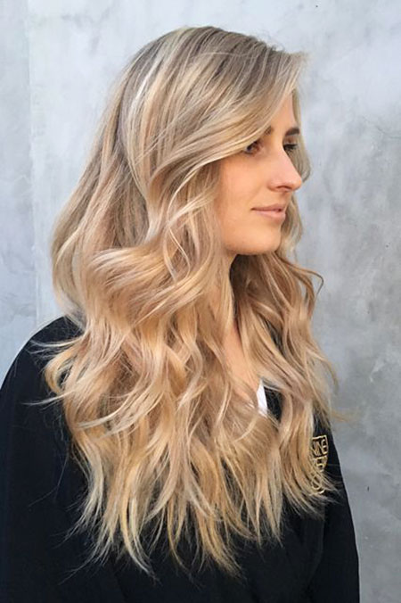 Blonde Champagne Ombre Highlights Balayage Up