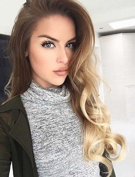 Long Brunette Blonde Ombre Locks Kylie Jenner Honey