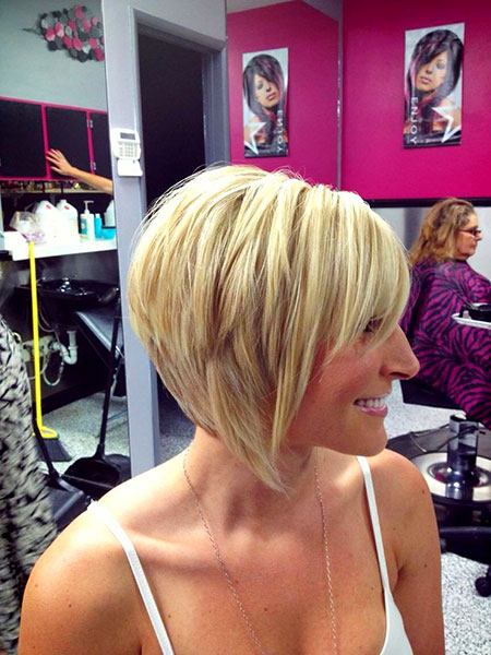 Blonde Bob Hairstyles, Short Hairstyles, 2017, Rose, Older