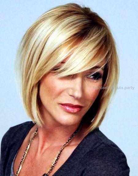 Short Hairstyles, Blonde Bob Hairstyles, Women, Over, Medium