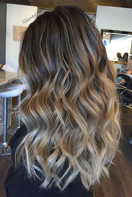 Balayage Highlights Brown Blonde Trend Soft Red