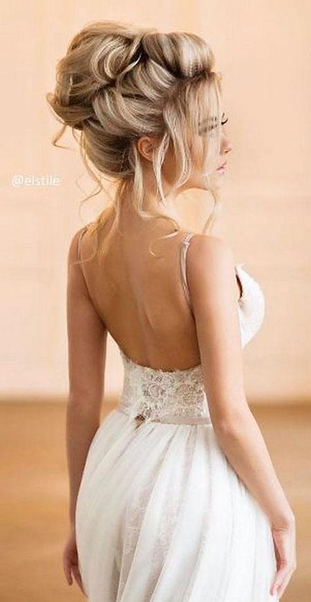 Wedding, Long, Weddings, Waterfall, Updo, Over, Braided