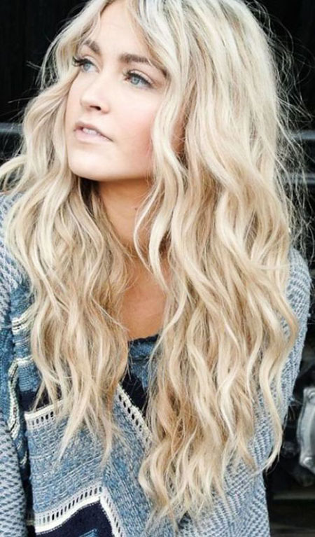 Waves Blonde Beach Summer Long Layered Curls Colors