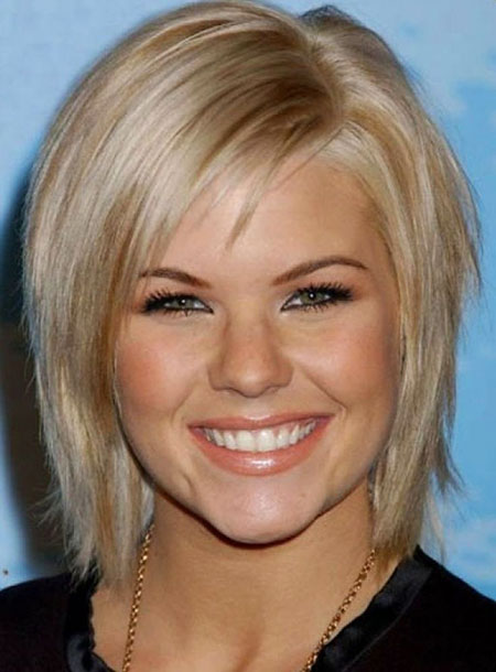 Short Hairstyles, Face, Blonde Bob Hairstyles, Thick, Round