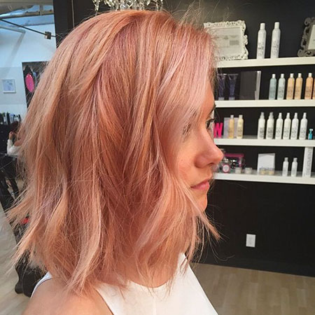 Gold, Rose, Blonde Hairstyles, Strawberry, Stacked, Short Hairstyles