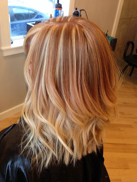 Blonde, Highlights, Strawberry, Balayage