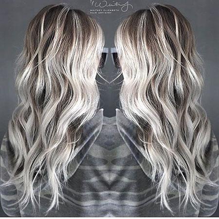 Blonde Balayage Silver Platinum Icy Ice Ash