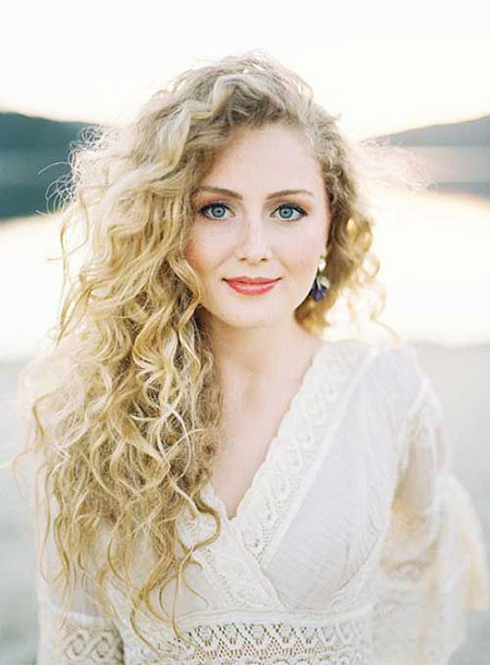 Curly Long Women Tori Permed Naturally Kelly Curls