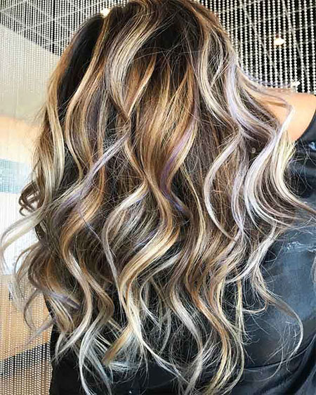 Blonde Highlights Brown Balayage Dark Bronde Ash
