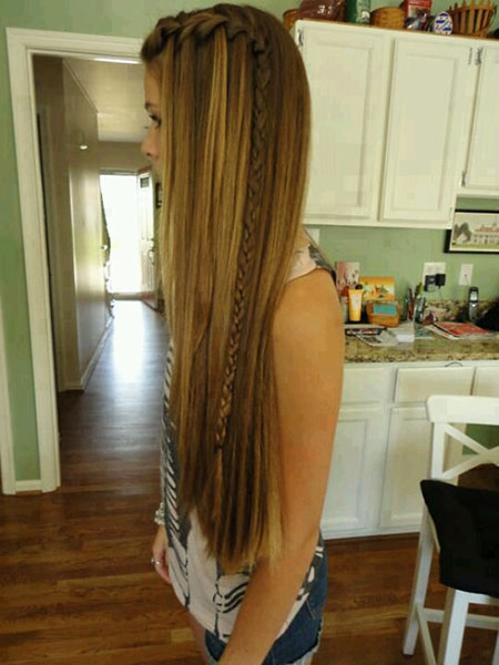 Waterfall Straight Long Highlights Braids Braid World