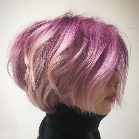 Pastel, Purple, Pink, Layered, Champagne, Blonde Hairstyles