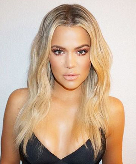 Kardashian, Khloe, Blonde, Waves, Some, Short, Long