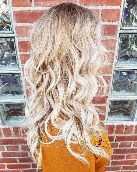 Blonde, Waves, Balayage, Baby, Long, Honey, Curls, Beach, Artist