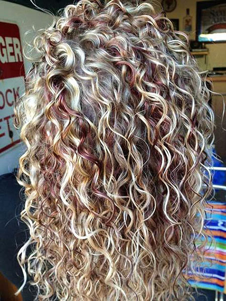 Curly Long Waterfall Perms Perm Highlights Curls Braid