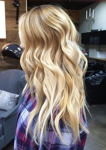 Blonde Balayage Highlights Some Shades Lowlights Long