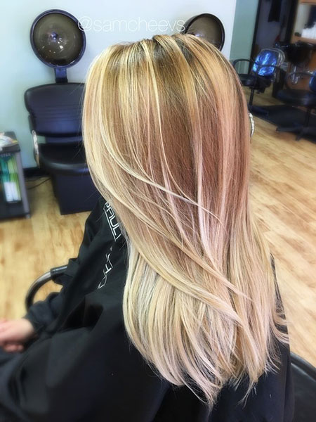 Blonde Balayage Honey Highlights Golden Dirty Ombre