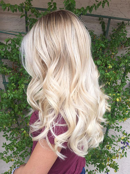 Blonde Balayage Highlights Short Rose Natural Long Gold