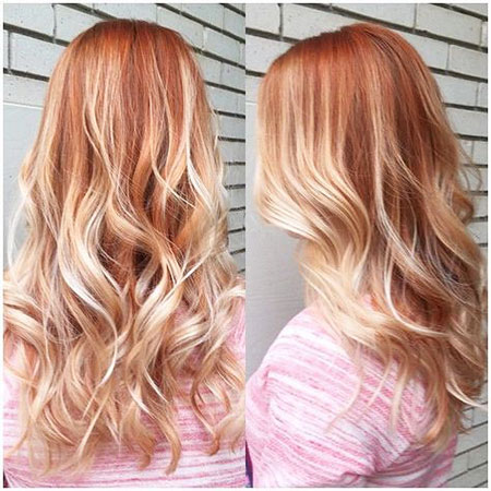 Ombre, Gold, Blonde, Strawberry, Rose