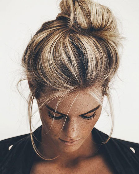 Bun, Chignon, Wedding, Updo, Messy, Mara, Low, Long, Highlights