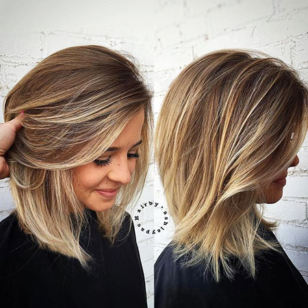 Medium, Blonde Bob Hairstyles, Length, Balayage, Thick