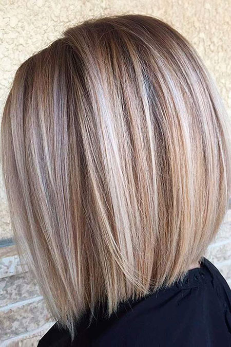 Blonde Bob Hairstyles, Blonde Hairstyles, Balayage, 2017, Winter, Stacked